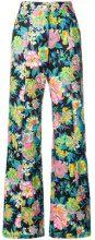 MSGM - Pantaloni gamba ampia - women - Cotton/Spandex/Elastane - 38, 40, 42, 44 - MULTICOLOUR