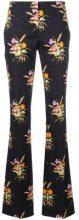 - Nº21 - Pantaloni con stampa floreale - women - cotone/Spandex/Elastane - 44 - di colore nero