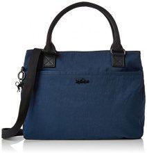 Kipling Caralisa - Borse a secchiello Donna, Blau (Satin Blue C), 34x25x11 cm (B x H T)