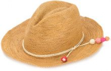 Sensi Studio - Tucuman band panama hat - women - Straw - S - BROWN