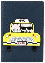 Karl Lagerfeld - Porta passaporto 'NYC' - women - Polyurethane - OS - BLUE