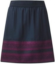 Street One Shiva L52 Circle Skirt w Jacquard Border, Gonna Donna, Blau (Night Blue 20109), 50 (Taglia produttore: 44)