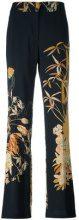 Nº21 - floral print trousers - women - Viscose - 40 - Nero