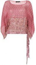 Twin-Set - sheer patterned blouse - women - Silk - 40, 42, 44, 46 - PINK & PURPLE