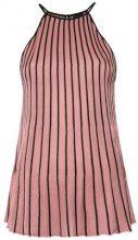 Osklen - pleated bicolor top - women - Viscose/Acrylic - M, L - PINK & PURPLE
