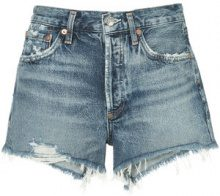 Agolde - Parker distressed denim shorts - women - Cotton - 25, 26, 27, 28, 29 - BLUE