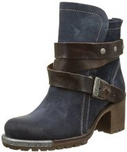 Fly London Stivali P143274 Donna, Blu (Blau (Deep/Dk. Brown 008)), 38