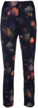 Marc Cain - floral print trousers - women - Elastodiene/Polyester - 36, 42 - BLUE