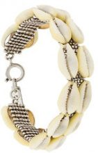 Isabel Marant - Braccialetto con conchiglie - women - Brass/Shell - OS - NUDE & NEUTRALS