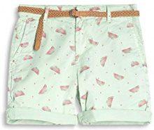 ESPRIT 067ee1c005u, Pantaloncini Donna, Multicolore (Light Green 330), 34