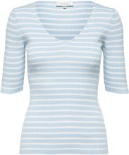 SELECTED Striped - T-shirt Women Blue
