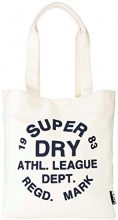 Superdry Ath League, Borsa Tote Donna, Avorio (Cream), 32.0x37.0x9.0 cm (W x H x L)