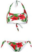 Mc2 Saint Barth - Bikini con stampa tropicale - women - Polyamide/Spandex/Elastane - L - Bianco