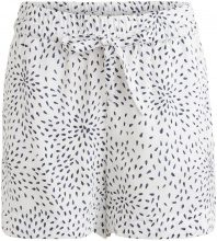 VILA Loose Fit, Patterned Shorts Women White