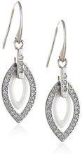 Stella Maris–Diamante orecchini in argento Sterling 925Premium in ceramica bianco zirconi–stm15j034