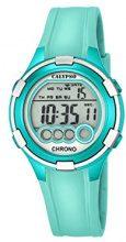 Calypso-Orologio digitale con Display LCD digitale e cinturino in plastica, colore: turchese, K5692/7