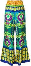 Gucci - Pantaloni crop stampati - women - Silk - 42, 44 - MULTICOLOUR