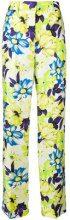 MSGM - Pantaloni dritti a fiori - women - Silk/Polyester - 38, 40 - GREEN