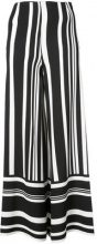 Semsem - striped palazzo pants - women - Cotton/Viscose - 38, 40, 42 - BLACK