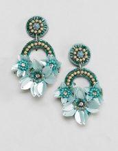 ASOS DESIGN - Graziosi orecchini ricamati con fiore e perline - Multicolore