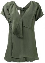 Marni - self-tie neck blouse - women - Viscose - 42 - GREEN