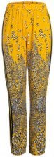 PIECES Leopard Printed Trousers Women Yellow