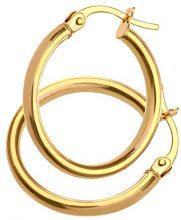 Citerna Orecchini a Cerchio da Donna, Oro Giallo