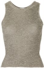 H Beauty&Youth - Top in maglia a coste - women - Linen/Flax/Nylon/Polyester - OS - Marrone
