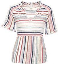 ESPRIT 048ee1f023, Camicia Donna, Multicolore (Light Beige 290), Small