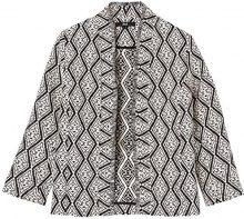FIND Jaquard Kimono  Giacca Donna, Nero (Black/ivory), 40 (Taglia Produttore: X-Small)