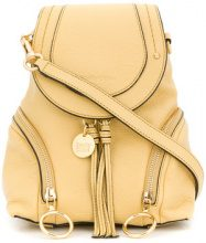 See By Chloé - Olga small grained backpack - women - Calf Leather - One Size - YELLOW & ORANGE