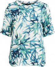OBJECT COLLECTORS ITEM Patterned Short Sleeved Blouse Women White