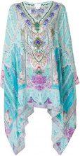 Camilla - Vestito con stampa giardino - women - Silk - OS - BLUE