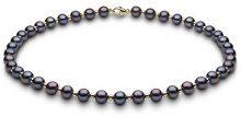 Kimura Pearls Donna  9 carati  oro giallo Rotonda Semisferica perla cinesa da coltivazione nero Perla FINENECKLACEBRACELETANKLET