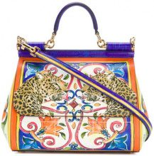 Dolce & Gabbana - Sicily printed shoulder bag - women - Calf Leather - One Size - MULTICOLOUR