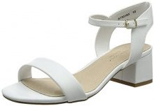 New Look Wide Foot Tammie, Scarpe Col Tacco Punta Aperta Donna, White (White 10), 41 EU