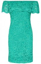 ONLY Lace Short Sleeved Dress Women Green