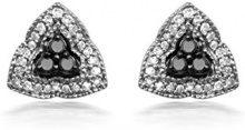Jewelili Donna  925  Argento Ronde   bianco Diamante FASHIONEARRING