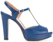 L'Autre Chose - Sandali con cinturino a T - women - Calf Leather/Goat Skin/Leather - 35, 36, 38, 39, 40 - BLUE