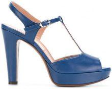L'Autre Chose - Sandali con cinturino a T - women - Calf Leather/Goat Skin/Leather - 35, 36, 38, 40 - Blu
