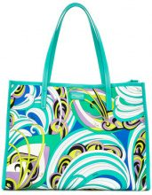 Emilio Pucci - printed tote - women - Polyester - One Size - BLUE
