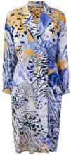 Jean Louis Scherrer Vintage - Giacca con stampa leopardata - women - Cotton - 40 - BLUE