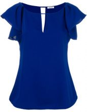 P.A.R.O.S.H. - Blusa con maniche increspate - women - Polyester - XL - BLUE