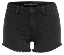 ONLY Raw Denim Shorts Women Black