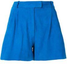 Salvatore Santoro - Shorts ampi - women - Suede - 40, 42, 44 - BLUE