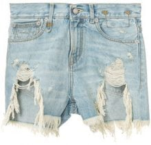 R13 - distressed denim shorts - women - Cotone - 28, 29, 27 - Blu