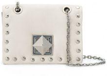 Sonia Rykiel - Mini borsa con borchie - women - Leather - OS - WHITE