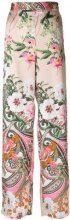 Blugirl - Pantaloni a fiori - women - Polyester - 38, 42 - Color carne & neutri