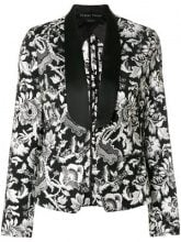 Christian Pellizzari - Blazer con effetto jacquard - women - Polyester/Cotton/Viscose/Acetate - 40, 42 - BLACK
