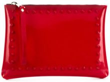 Gum - Clutch con borchie - women - PVC - OS - RED